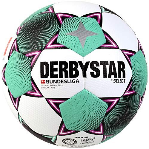 DERBYSTAR 2020/2021 Brillant APS Bundesliga FIFA Match Soccer Ball, Size 5, White