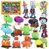 15 Unids / Set Juguetes para Niños Plants Vs Zombies Set PVC Figuras PVZ Colección Modelo Muñecas Regalos para Niños
