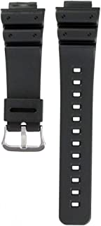 Black Resin Watch Band - 16mm