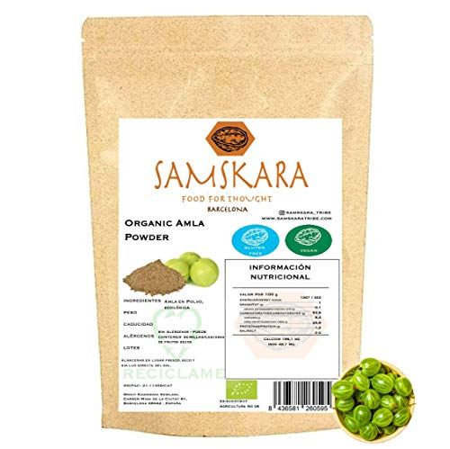 Amla en polvo Ecológica BIO | Samskara food for thought | Organic Amla powder | gluten free vegan (500gr)