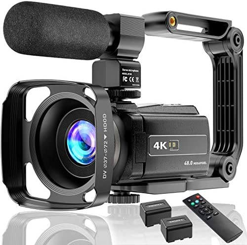 Video Camera 4K Camcorder Ultra HD 48MP Vlogging Camera for YouTube WiFi Night Vision Camcorder product image