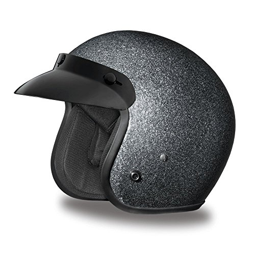Daytona Helmets Motorcycle Open Face Helmet Cruiser- Gun Metal Flake