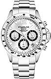Stührling Original - Montre chronographe pour Homme, Bracelet en Acier Inoxydable avec Couronne...