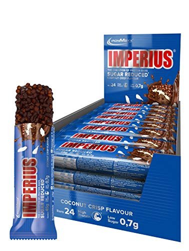 Ironmaxx Imperius Zucchero Ridotto Proteine 24 Barre, Cocco Crisp - 1080 g