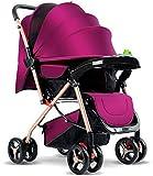 SYue Cochecito de bebé, portátil Plegable Multiusos, colección de Autos con un Solo botón Carro de Cuatro Ruedas para bebé recién Nacido de 0 a 3 años