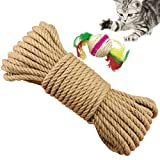 Yangber Corda Naturale Tiragraffi Sisal Corda 6mm 50m Sostituzione Antica Corda Accessorio Ideale per Gatto Albero, Sisal Ball Included
