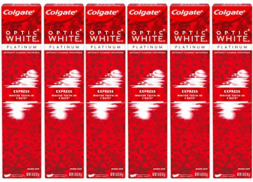 Colgate Optic White Express White Whitening Travel Toothpaste - 1.45 ounce (6 Pack)