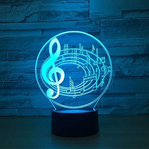 Stereoanmerkungen der Fracht 3d sichtbare Lichter Scheinwerfer-Usb-Spg.Versorgungsteil-Nachtlicht reizende 7 Farbänderung 3D Lampe