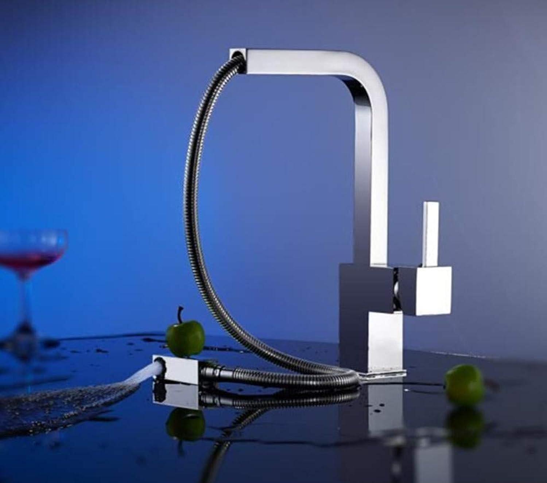 ROTOOY Chrom herausziehen küchenarmatur Platz Messing küchenmischer waschbecken Wasserhahn mischer küchenarmaturen ziehen küchenarmatur aus