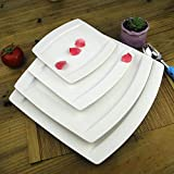 WHWH Bone China Square Western-Style Cutlery Plate Set-Small Plate 20.5 * 1.8cm