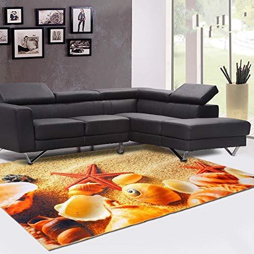 Vlejoy Nordeuropäischer kreativer Teppich Kinder Cartoon Strand großflächige Innendekoration Junge Mädchen Schlafzimmer Schreibtisch Couchtisch Pad langlebig-80 * 160cm