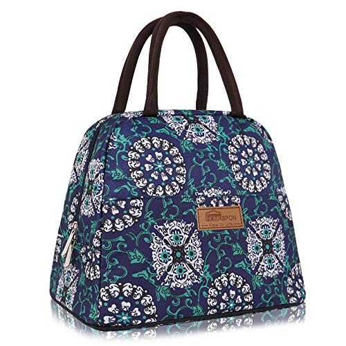Insulated Lunch Bag for Women Men Leakproof Cooler Bag Reusable Tote Bag Lunchbox Container for Work/Picnic, Large (Diamond)