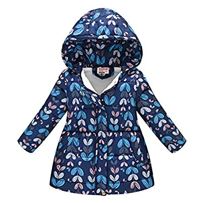 WOCACHI Girls Winter Coat, Toddler Kids Baby Girls Boys Leopard Hooded Winter Warm Hooded Windproof Coat All Saints' Day Ghosts Witches Candy Sweet Goblin Bone Warlock Bat Dolman Skeleton