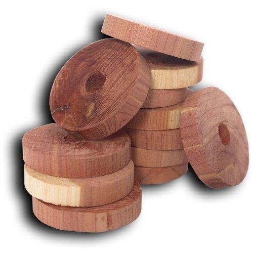Household Essentials 14316-1 Cedar Fresh Red Cedar Wood Rings for Hangers   Set of 20