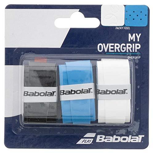 Babolat My Overgrip X3 Accesorio Raqueta de Tenis, Unisex Adulto, Negro/Azul Blanco, Talla Única
