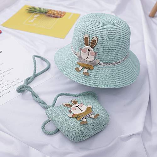 Kinder Hut Sommer Mädchen Atmungsaktiver Strohhut + Handtasche Sets Kind Baby...