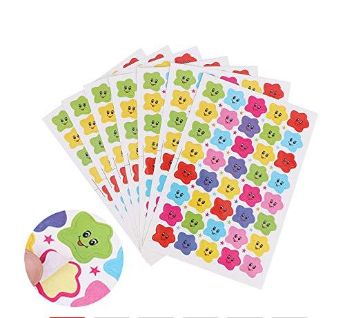20 Hojas 800 Piezas Smiley Face Star Stickers Decal School Cute Children Teacher Reward Sticker Label Diy Diary Sticker Regalo Útil