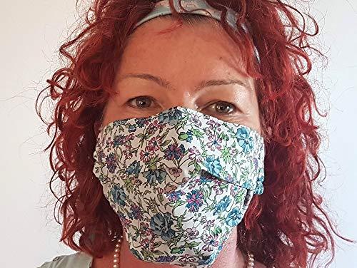 Stilvolle Luxus-Gesichtsmaske/London Designer - Ballerine Sommergewicht Stoff Ballerine / 100% Double Layer Schöne Baumwolle/Wiederverwendbar/Waschbar-Frauen