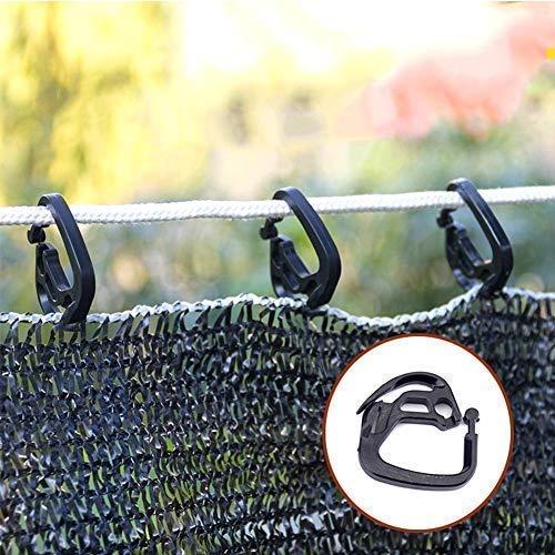 Gancio Netto 50Pcs Rete Ombreggiante Verde 150 Ombra Netto Morsetto Clip della Rete dell'ombra Trellis Fiore Giardino Vite vegetale Fissa Supporto per impianto di Clip Giardinaggio