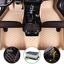 All Weather Floor Mat for 2012-2015 Land Rover Evoque 4 Doors Full Protection Car Accessories Beige 3 Piece Set