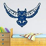 yaonuli Night Bird Owl Tatuajes de Pared Vinilo Luna Estrellas extraíble decoración de la Sala Etiqueta de la Pared 57X34cm