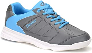 Dexter Mens Dexter Mens Ricky IV Bowling Shoes- Grey/Blue DXDM0000108 095, Grey/Blue, Size 9.5/Medium