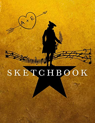 Hamilton Blank SKETCHBOOK Alexander Hamilton Journal Sketch Book, Ideal for sketching, doodling, and jotting down ideas. Perfect for artists, students, kids and adults.