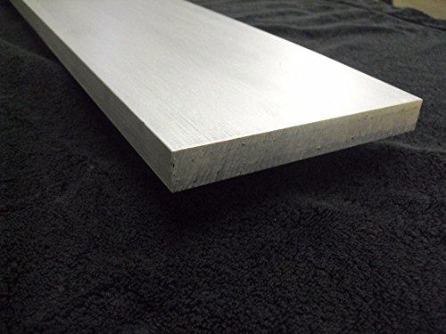 "1/4"" x 2"" x 36"" long Aluminum Flat Bar Sheet Plate 6061-T6 Mill Finish"