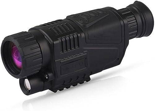 HHRONG Monoculaire numérique de Vision Nocturne extérieure 5x40 monoculaire avec la Fonction de Lecture de Stockage de Photo et de vidéo pour la Surveillance de sécurité de Chasse de Nuit