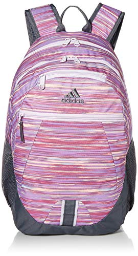 adidas Foundation Backpack, Sunset Print Bags/Onix Grey/Purple Tint 4, One Size