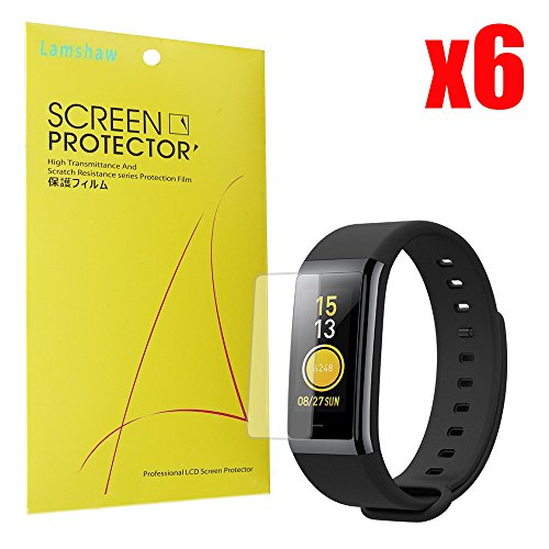 for Amazfit Cor Screen Protector, Lamshaw Premium High Definition Ultra Clear Screen Protector for Amazfit Cor Heart Rate Fitness Tracker (6 Pack)
