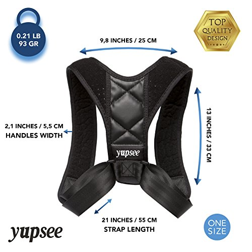 Posture Corrector Women Men. Relief Upper Back Neck and Shoulders Pain. Effective Clavicle Support Brace. Adjustable. Best Comfortable Invisible to Wear by Yupsee
