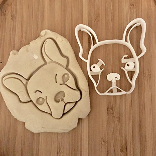 Max the French Bulldog Cookie Cutter and Dog Treat Cutter - Dog Face