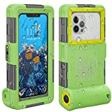 ShellBox Funda Impermeable Móvil IPX8 Bolsa para Móvil Estanca a Prueba de Agua para iPhone 11 11 Pro 11 Pro MAX 12 12 Pro 12 Pro MAX Samsung Huawei Google OnePlus Xiaomi Redmi Motorola LG