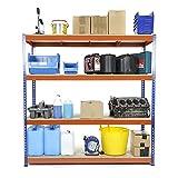 Racking Solutions - Rayonnage / Étagère de garage / Système de stockage en acier, charges lourdes, capacité de charge totale 1600kg (4niveaux 1800mm H x 1800mm L x 450mm P) + Livraison Gratuite