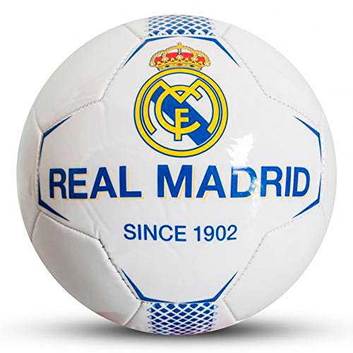 Real Madrid FC Since 1902 White Football Size 5 Faux
