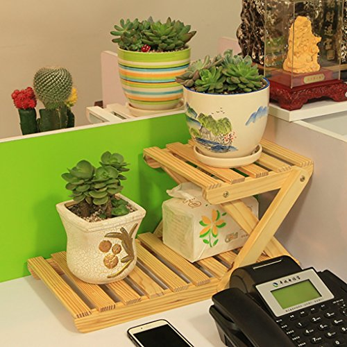 Flower Stand/Desk Fauteuil en bois massif Mini-rangement Small Plant Rack (Couleur : 8)
