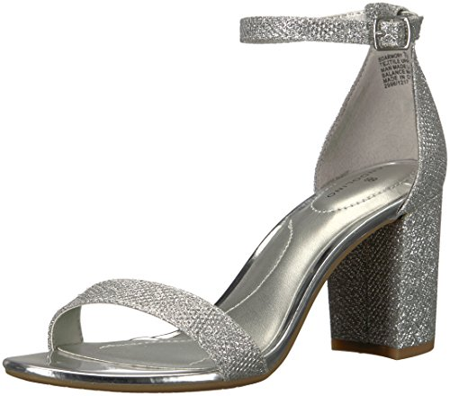 Bandolino Women's Armory Heeled Sandal, Silver, 6