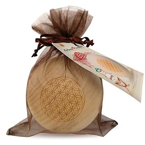 ZirbenFamilie - bekannt aus dem Fachhandel & der Hotellerie • ZirbenKugel • Duftende ZirbenKugel mit Blume des Lebens Gravur • Holzkugel aus ZirbenHolz