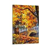 Póster de lienzo abstracto de árbol de otoño para decoración de habitación, estético, decoración de pared, lienzo para colgar en la habitación, 40 x 60 cm