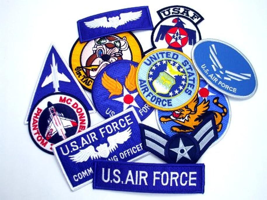 市場弾丸指導するミリタリーワッペン福袋12枚入りアソート★USA空軍多め