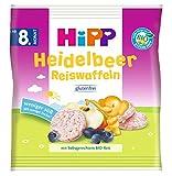 Hipp Knabberprodukte, Heidelbeer Reiswaffeln, 7er Pack (7 x 30 g) -