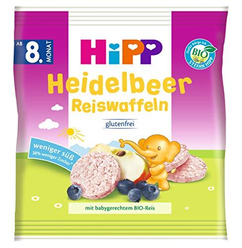 Hipp Knabberprodukte, Heidelbeer Reiswaffeln, 7er Pack (7 x 30 g)