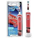 Oral-B Kids Cars Elektrische Zahnbürste/Electric Toothbrush für Kinder ab 3 Jahren, 2 Putzmodi für Zahnpflege, extra weiche Borsten, 4 Sticker, rot (Design kann variieren)