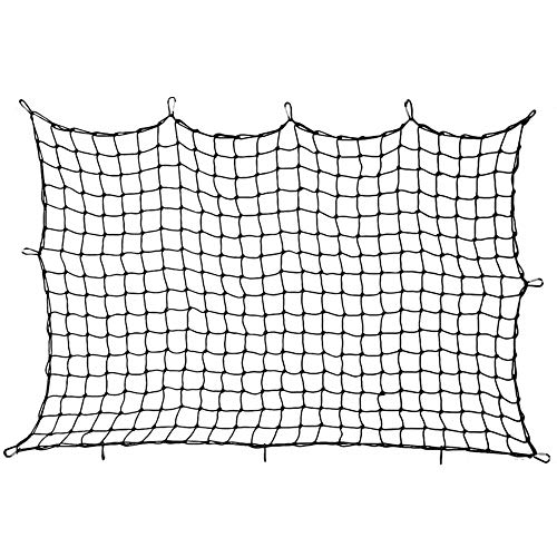 GRXXX Cargo Net, 70' X 47' Car Roof Bungee Nets with 12 X D Carabiners - Flexible Scalability, 200 Lbs Loads - for Truck, SUV, Rooftop, Luggage And Rack