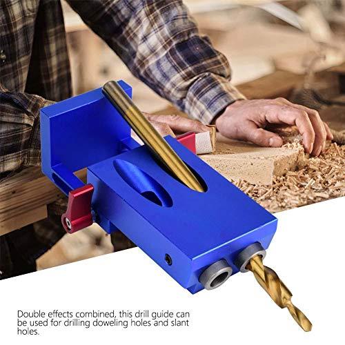 Sale!! Acogedor Pocket Hole Jig, Woodworking Drill Guide,Pocket Slant Hole Jig Step Drill Bit Set,...