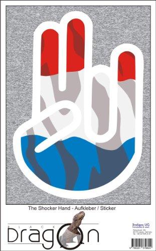 INDIGOS UG The Shocker Hand - Wandtattoo/Wandaufkleber/Aufkleber - weißer Umriss mit Fahne/Flagge - Switzerland-Schweiz 70 cm