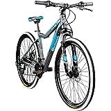 Galano Mountainbike 650B Hardtail Fahrrad MTB GX-27,5 Bike 27,5 Zoll 21 Gang (grau/blau, 45 cm)