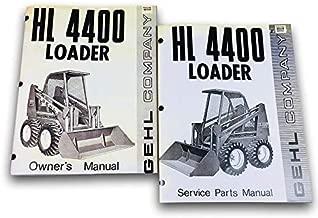 Gehl 4400 Skid Loader Skid Steer Owner Operators Service Parts Manual Set