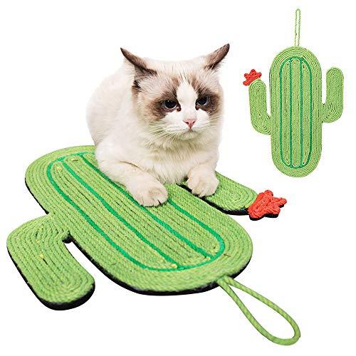 JuneJour Kratzbrett für Katzen Kratzmatte Katze Kratzmöbel mit Katzenminze Spielzeug für Katzen und Hunde Kratzpad Scratching Pad (Kakteengewächse#2)
